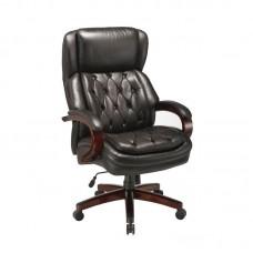 Кресло для руководителя Easy Chair 427 TL черное (кожа/массив дерева)
