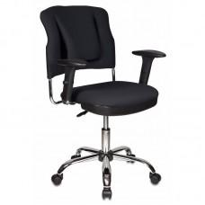 Кресло для руководителя Бюрократ СН-323ASXN/B черное (ткань/металл)