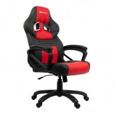 Кресло игровое Arozzi Monza черное/красное (искусственная кожа/пластик)