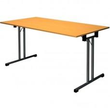 Стол складной FT140 (прямоугольный, каркас черный, столешница ЛДСП вишня)