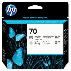 Головка печатающая HP 70 C9407A черная фото и светло-серая оригинальная