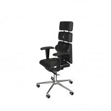 Кресло для руководителя Kulik-system PYRAMID 0902 черное (искусственная кожа/металл)
