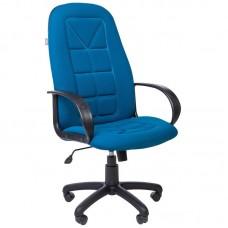 Кресло для руководителя РК 127 S синее (ткань/пластик)