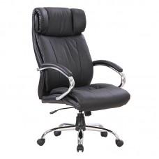 Кресло для руководителя Easy Chair CS-834E/AL-3 черное (кожа/металл)
