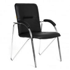 Конференц-кресло Chairman 850 черный (хромированный металл/искусственная кожа)