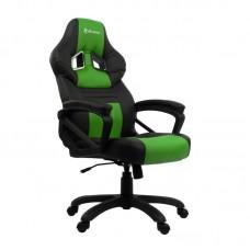 Кресло игровое Arozzi Monza черное/зеленое (искусственная кожа/пластик)