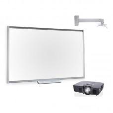 Комплект интерактивный Smart Board SBM685 87 дюймов + ключ Smart Notebook + лоток + проектор V12 + крепление DSM14Kw