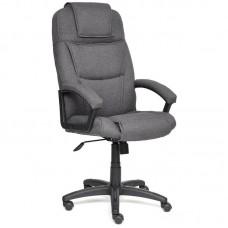 Кресло для руководителя Bergamo темно-серое (ткань/пластик)