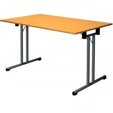 Стол складной FT120 (прямоугольный, каркас черный, столешница ЛДСП вишня)