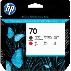 Головка печатающая HP 70 C9409A матовая черная и красная