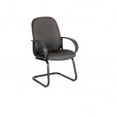 Конференц-кресло Chairman 279 на полозьях темно-серое (ткань/пластик/металл черный)
