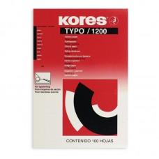 Бумага копировальная черная Kores 1200 (А4, 100 листов)