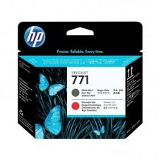 Головка печатающая HP 771 CE017A черная матовая и хроматическая красная