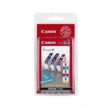 Набор картриджей Canon CLI-8 0621B029 оригинальный цветной