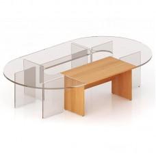 Стол для переговоров Эталон (бук, прямая секция, 1400x800x768 мм)