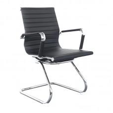 Конференц-кресло Бюрократ CH-883-Low-V черное (искусственная кожа/металл, 2 штуки в упаковке)