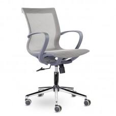Кресло для руководителя Йота М-805 серое (сетка/хромированный металл)