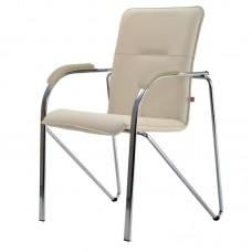 Конференц-кресло Samba Chrome светло-бежевое (искусственная кожа/металл хромированный)