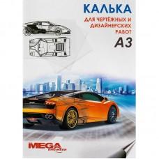 Калька глянцевая MEGA Engineer (А3, 40 г/кв.м, 40 листов)
