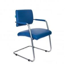 Конференц-кресло Бюрократ СH-271-V синий (искусственная кожа/металл)
