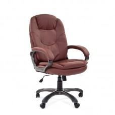 Кресло для руководителя Chairman 668 коричневое (экокожа/пластик)