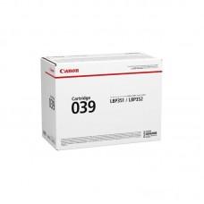 Картридж лазерный Canon CRG 039 BK 0287C001 черный оригинальный