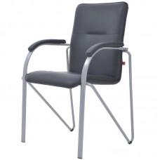 Конференц-кресло Samba Silver черное (искусственная кожа/металл серебристый)