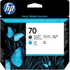 Головка печатающая HP 70 C9404A матовая черная и голубая оригинальная