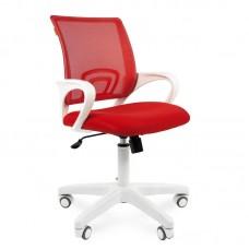 Кресло офисное Chairman 696 красное/белое (ткань/сетка/пластик)