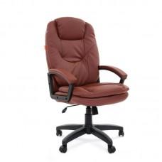 Кресло для руководителя Chairman 668 LT коричневое (экокожа/пластик)