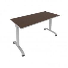 Стол складной мобильный (венге/титан, 1400x650x757)