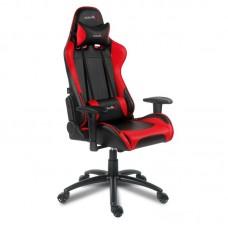Кресло игровое Arozzi Verona черное/красное (экокожа/пластик)