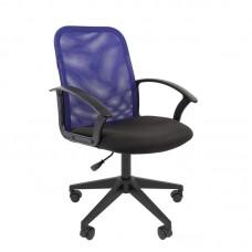 Кресло офисное Chairman 615 черное/синее (ткань/сетка/пластик)