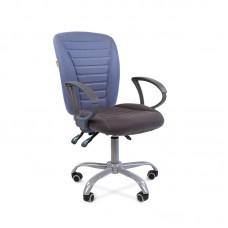 Кресло офисное Chairman 9801 Ergo серое/голубое (ткань/пластик/металл)