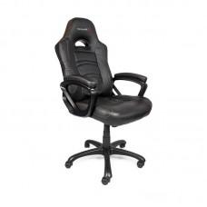 Кресло игровое Arozzi Enzo черное (экокожа/пластик)