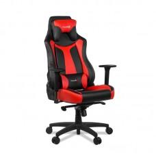 Кресло игровое Arozzi Vernazza черное/красное (экокожа/пластик)