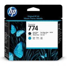 Головка печатающая HP 774 P2W01A черная матовая и голубая