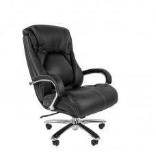 Кресло для руководителя Chairman 402 черное (кожа/металл)