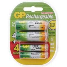 Аккумуляторы GP 270AA/100AAAHCFR-2CR8 2700mAh AA 8шт