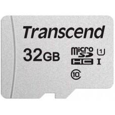 Micro SecureDigital 32Gb HC Transcend class10 UHS-1 (TS32GUSD300S-A)+ SD адаптер