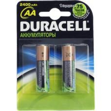 Аккумуляторы Duracell HR6-2BL 2450mAh/2400mAh AA 2шт