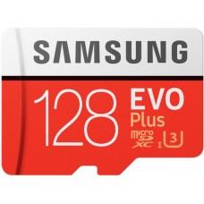 Micro SecureDigital 128Gb SDXC Samsung Evo Plus class10 UHS-I U3 (MB-MC128GA/RU) + адаптер SD