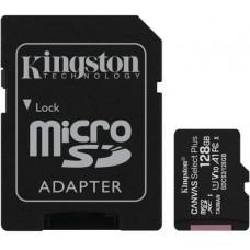 Micro SecureDigital 128Gb Kingston Canvas Select Plus SDXC class 10 UHS-I (SDCS2/128GB) + SD adapter
