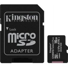 Micro SecureDigital 64Gb Kingston Canvas Select Plus SDXC class 10 UHS-I (SDCS2/64GB) + SD адаптер