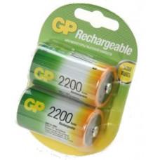 Аккумуляторы GP 220DH-CR2 2200mAh D (LR20) 2шт
