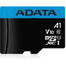Micro SecureDigital 16Gb A-Data SDHC Class 10 UHS-I A1 (AUSDH16GUICL10A1-RA1) + SD адаптер