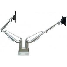 Kromax Office S20 15-32' до 15кг Vesa до 100x100 серебристый для двух мониторов с газовой пружиной