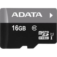 Micro SecureDigital 16Gb SDHC A-Data , UHS-I Class 10 (AUSDH16GUICL10-RA1) + SD адаптер